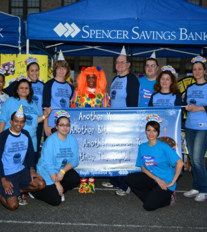 Spencer Savings Bank's team of employees and family members raised